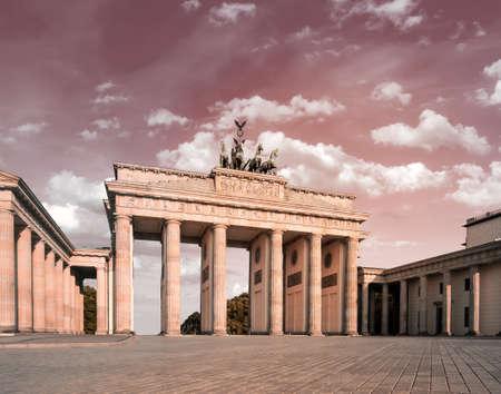 Brandenburg Gate  Brandenburger Tor  in Berlin, Germany, tinted image photo