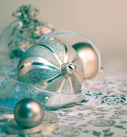organza: Christmas baubles on ornate