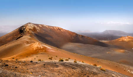 Mountains of fire,Timanfaya on Lanzarote, Canary islands, Spain  Stock Photo - 28980952