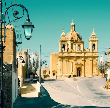 Malta, church in village Haz-Zebbug