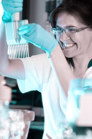 throughput: Scientist tunes multichannel pipette for high throughput DNA analysis