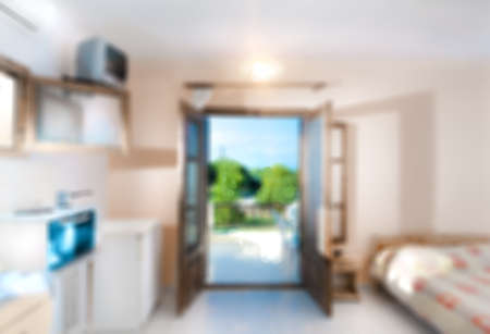 mediterranean house: Holiday appartment interior out of focus