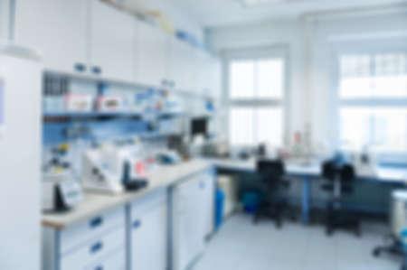 Laboratorium interieur onscherp, template voor een poster, webpagina of brochure