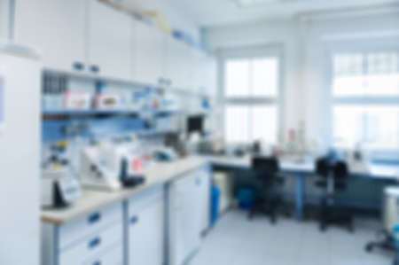 laboratory research: Laboratory interior out of focus, template for a poster, webpage or leaflet