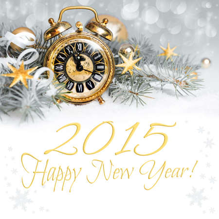 new day: 2015 count down - Happy New Year greeting card