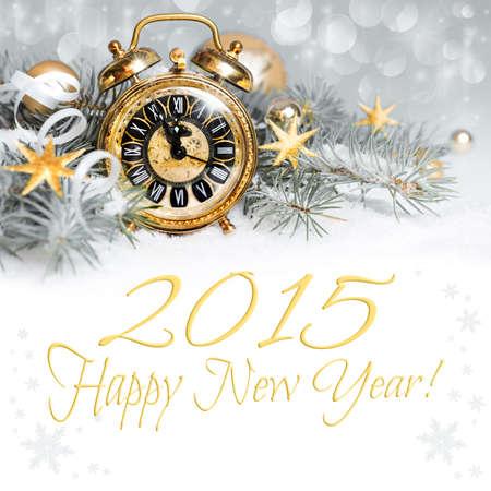 fin de ao: 2015 cuenta atr�s - tarjeta de felicitaci�n de la Feliz A�o Nuevo