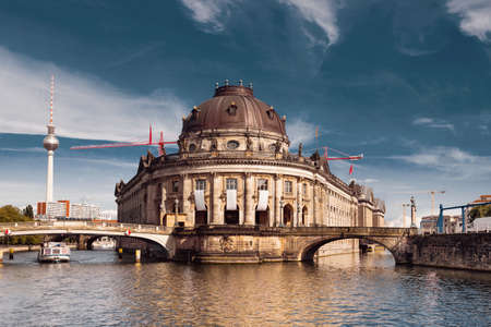 Bode Museum in Berlin at sunset, toned image