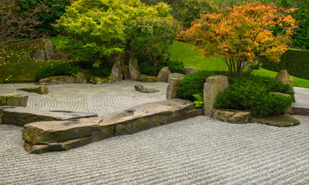 the silence of the world: Formal Japanese garden in Autumn. Gardens of the World, Berlin