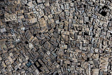 letterpress letters: Old letterpress German letters from a flea market