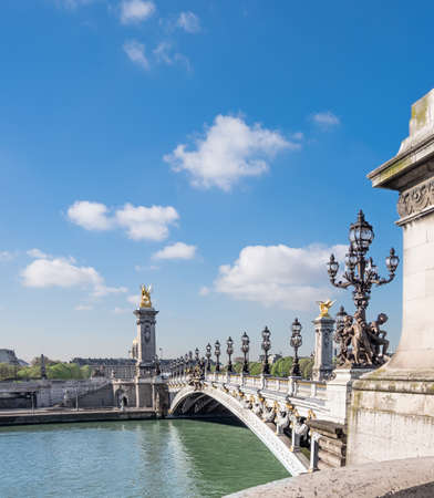 alexandre: Alexandre Bridge in Paris on a bright sunny morning in Spring, space for your text