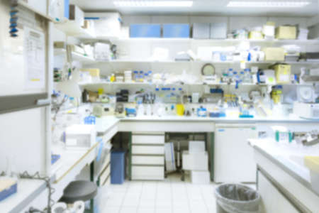 Laboratory interior out of focus, template for a poster, webpage, leaflet or powerpoint presentation. This is blurred image, there is no focal point here.