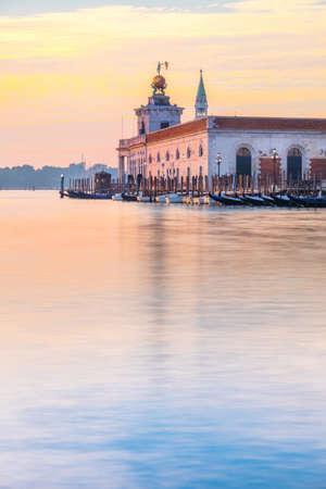 custom: Punta della Dogane of Dogana da Mar, former Customs House in Venice, Italy on a glorious sunrise