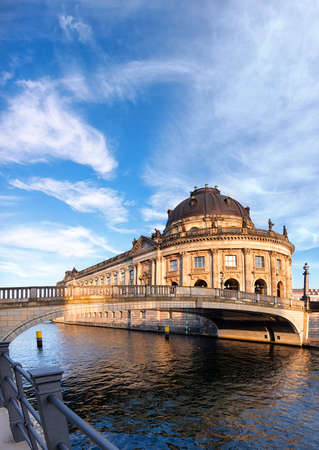or spree: Museum island in Berlin on river Spree early afternoon