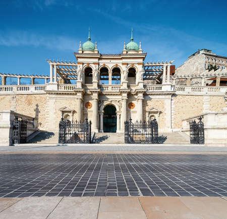 restauration: The Castle Garden Bazaar, or Varkert Bazaar in Budapest, Hungary