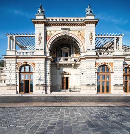 restauration: The Castle Garden Bazaar in Budapest, Hungary, panorama image