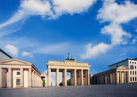 brandenburg gate: Panorama of Brandenburg Gate in Berlin, Germany Stock Photo