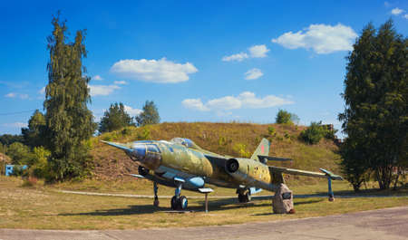 FINOWFURT, GERMANY - AUGUST 22, 2015: Yakovlev Yak-28R, tactical reconnaissance version of Yak-28I, Soviet combat aircraft. Finowfurt Aviation Museum (Luftfahrtmuseum Finowfurt), Brandenburg, Germany. Editorial