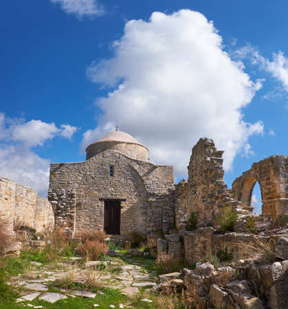 Ruined monastery Of Timios Stavros near Anogyra Village in Cypros