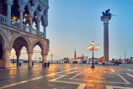 San Marco square in the morning. Venice or Venezia city, Italy, Europe. Stock Photo