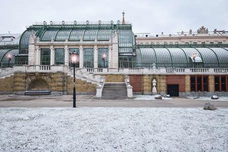 Imperial Butterfly House (Schmetterlinghaus, un famoso edificio Art Noveau) a Vienna, in Austria, in inverno Archivio Fotografico - 99880777
