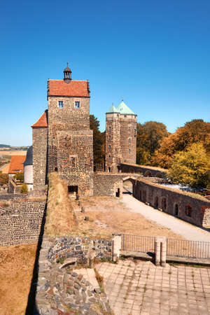 Stolpen fortress (Burg Stolpen in German), eastwards from Dresden in rural Saxony, Germany