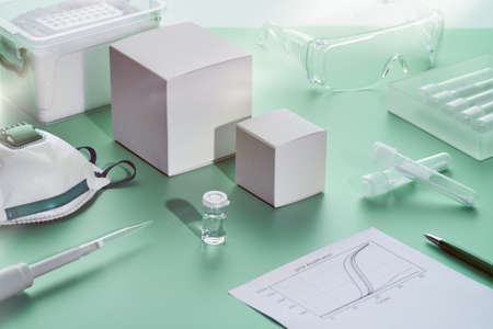 SARS-COV-2 pcr diagnostics kit. This is RT-qPCR kit using real time reverse transcription and amplification of DNA fragment to detect spike region of 2019-nCoV virus that cause Covid-19 disease.