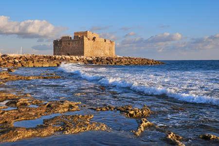 "Paphos Harbour Castle, also known as ""Turkish Castle"" in Pathos, Cyprus"