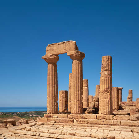 Fragment of Temple of Juno, Temple of Hera Lacinia. Valley of the Temples, Agrigento, Sicily, Italy.