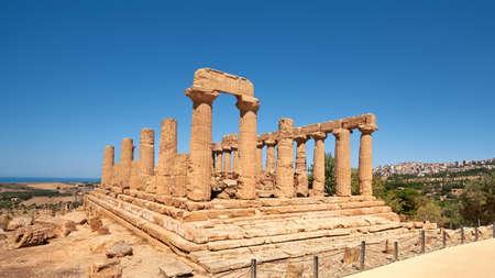 Temple of Juno, Temple of Hera Lacinia. Valley of the Temples, Agrigento, Sicily, Italy. 版權商用圖片 - 167150600