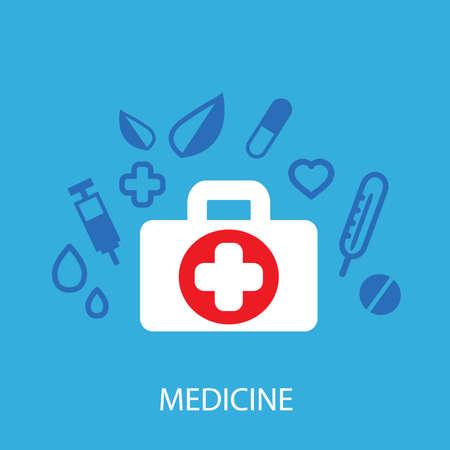 Medicine background Vector