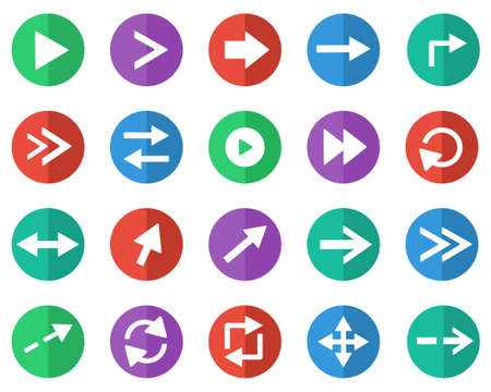 top pointer: Simple arrow sign icon set for web