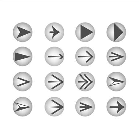 Set of vector arrows of new style.