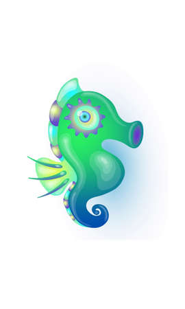 turquoise seahorse Vector