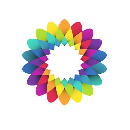rainbow color star: rainbow flower Illustration