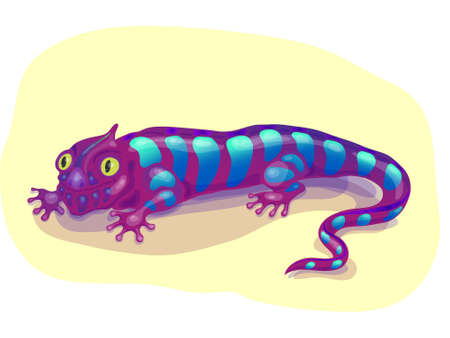 reptil: purple lizard
