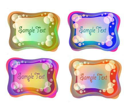 colorful bubble frames Illustration
