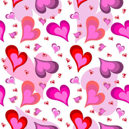 illustration of seamless heart pattern Illustration