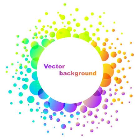 arcobaleno astratto: illustrazione di sfondo colorato fiore arcobaleno astratto isolato su bianco Vettoriali