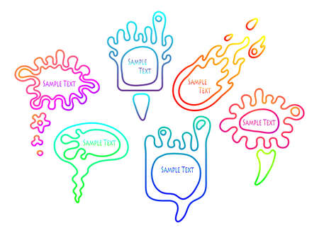 illustration of smooth colorful speech bubble set