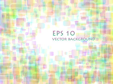 illustration of pastel overlapping rounded rectangle  background