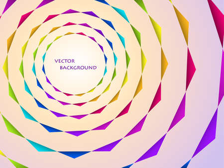 illustration of concentric rainbow circles bsckground Vector