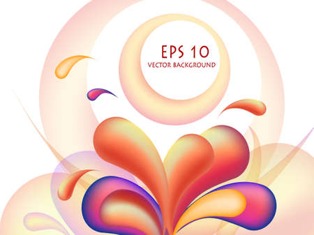 illustration of orange swirl abstract design Vector