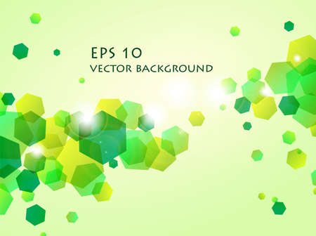 illustration of shiny green hexagon background Vector