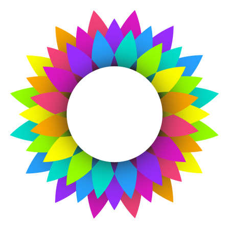 illustration of abstract rainbow flower logo design 일러스트