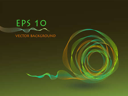 abstract green ball  background Vector