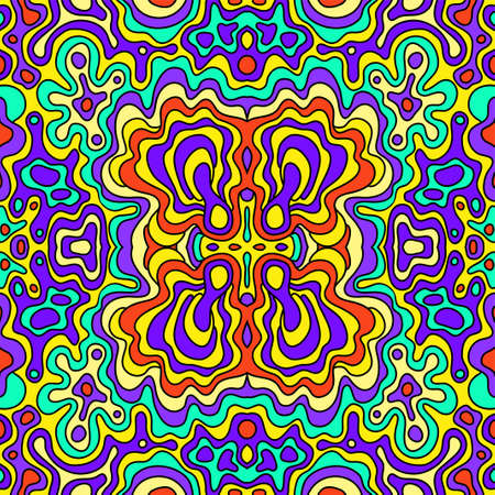 seamless  doodle hand-drawn pattern Vector