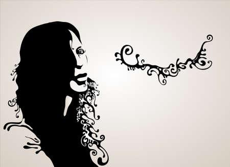 feminize: woman silhouette
