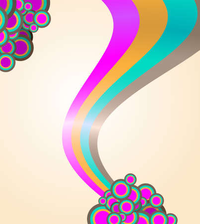 abstract ribbon and circles background