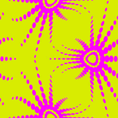 60s hippie: retro optical illusion seamless pattern