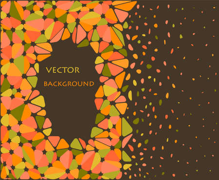 orange and green abstract triangle background